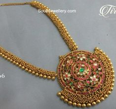 Antique Gold Haram with Kundan Pendant photo Kids Gold Jewellery, Real Gold Jewelry, Gold Jewellery Design, Indian Jewelry, Temple Jewellery, Indian Necklace, Diamond Jewellery, Antique Jewellery, Bridal Jewellery