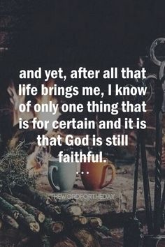 He who calls you is faithful.1 Thessalonians 5:24 Nothing in life is certain. The unknown may seem frightening. But I have learnt one thing, no matter what, God is faithful. If we think God will always lead us on easy paths, we will be tempted to...