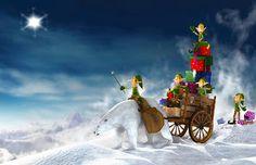 Tarjeta de Navidad Duendes y Oso Polar Las mejores invitaciones para que regales en Navidad #tarjetas #navidad #christmas #greetings #card