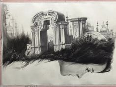Old Summer Palace, Sketch, Artwork, Painting, Sketch Drawing, Work Of Art, Paintings, Draw, Sketching
