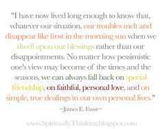 ....and Spiritually Speaking: How to Make our Troubles Disappear