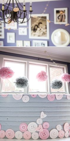 swanky::chic::fete: cute as a button [a pink and gray birthday]