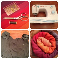 Sew your own baby wearing hoodie. Easy tutorial. Definitely going to do this in the next week or two.