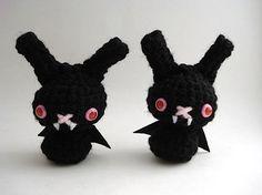 Vampire Bat Moon Bun Amigurumi Bunny Rabbit by MoonsCreations
