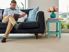 A classic cut pile with a very tailored look in NZ wool. Zambezi's colours are inspired by nature to create a calm, soft interior. Building Contractors, Attic Spaces, Store Signs, Tv On The Radio, Classic Style, New Homes, House Ideas, Carpet, Colours