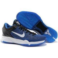 best service f390e bbe12 Nike Zoom Kobe 7 Blue White Black Sport Kobe 7 Shoes, Nike Shoes