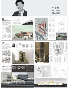 Architektur portfolio design in landscape architecture. Poster Architecture, Perspective Architecture, Texture Architecture, Architecture Portfolio Template, Architecture Design Concept, Landscape Architecture Portfolio, Plans Architecture, Architecture Presentation Board, Architecture Graphics