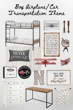Boys Room Design, Boys Room Decor, Boy Room, Transportation Room, Dresser Bed, Bunk Bed With Desk, Ikea Desk, Teen Bedroom, Room Themes
