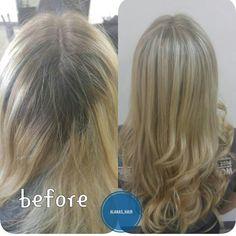 Blonde hair using Paul Mitchell DPL