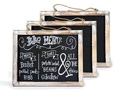 Cade Vintage Framed Slate Kitchen Chalkboard - Decorative Chalk Board for Rustic Wedding Signs, Kitchen Pantry & Wall Decor (3packs, 12*9.5in), http://www.amazon.com/dp/B01FX2S0PQ/ref=cm_sw_r_pi_awdm_x_YhbQxbBHHJD0K