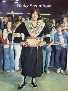 Ricky Steamboat with theNWA Mid-Atlantic United States Heavyweight Championship