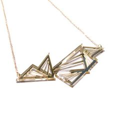 abstract laser cut necklace