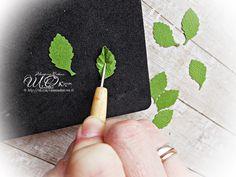 Чудесный мир..........: Как я делаю листики для цветов. 2 способ.