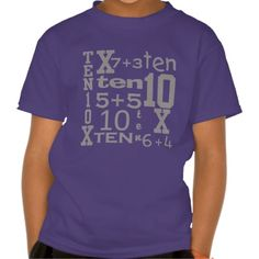 >>>The best place          Customizable FUN Ten MATH Inspired 10th BIRTHDAY Tees           Customizable FUN Ten MATH Inspired 10th BIRTHDAY Tees in each seller & make purchase online for cheap. Choose the best price and best promotion as you thing Secure Checkout you can trust Buy bestReview ...Cleck Hot Deals >>> http://www.zazzle.com/customizable_fun_ten_math_inspired_10th_birthday_tshirt-235535573285936456?rf=238627982471231924&zbar=1&tc=terrest