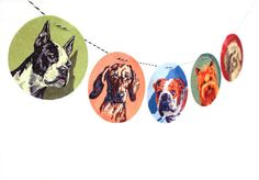 Vintage Paint By Number Dog Garland photo by RawBoneStudio on Etsy, $14.50