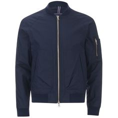 Tommy Hilfiger Men's Colton Bomber Jacket (3,390 MXN) ❤ liked on Polyvore featuring men's fashion, men's clothing, men's outerwear, men's jackets, blue, mens flight jacket, mens blue jacket, mens light weight jackets and mens bomber jacket