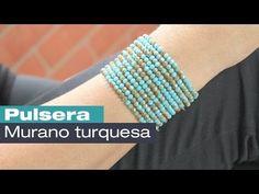 Cómo hacer una pulsera de perlas de colores con Adriana Muñoz Kit 23189 - YouTube