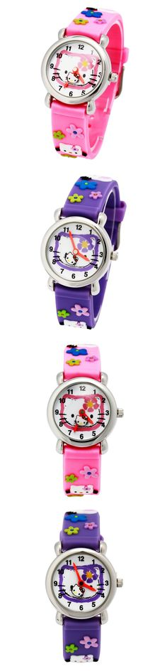 KEZZI Children Watch Boys girls Sweet Cartoon Watches kids student Leather starp Sport waterproof wrist Watch montre enfant