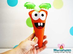 Happy Carrot Sewing pattern Felt baby Happy carrot by Mariapalito