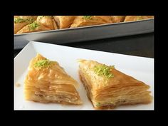World& Easiest and Crispy Baklava Recipe with Rolls This 👉🏻bera dessert dessert , Turkish Baklava, Turkish Recipes, Ethnic Recipes, Cake Videos, Rolls, Food And Drink, Yummy Food, Dishes, Cooking