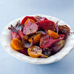 Beets are typically prepared with sweet and sour flavors. In this recipe, roasting brings out the sweetness and a balsamic glaze adds the piquant notes.