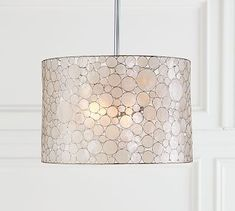 "Marina Drum Pendant  Overall: 26"" diam. x 10"" h  2 60W also flush mount and other shapes"