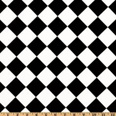 Premier Prints Diamond Black/White from @fabricdotcom  Screen printed on cotton duck; this versatile medium weight fabric is perfect for window accents (draperies, valances, curtains and swags), toss pillows, bed skirts, duvet covers, slipcovers and more! Get creative with tote bags and aprons, too! Colors include black and white.