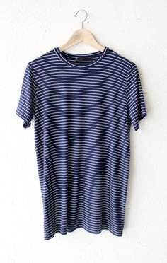"- Description Details: Soft short sleeve striped oversized shirt in navy/white. Oversized, very loose fit. Measurements: (Size Guide) S: 38"" bust, 28"" length M: 40"" bust, 29"" length L: 42"" bust, 30"" l - white shirt black buttons slim fit, button down casual shirts, all white button down shirt *sponsored https://www.pinterest.com/shirts_shirt/ https://www.pinterest.com/explore/shirt/ https://www.pinterest.com/shirts_shirt/sport-shirt/ http://www.hm.com/us/products/sale/men/shirts"