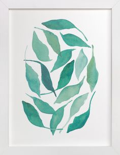 Blue Leaves by Tennyson Tippy at minted.com