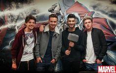 Louis, Liam, Zayn, and Niall