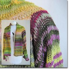 edie sweater by knitwhits. stripey AND mixes rows of worsted and sock weight yarns (different needles too) for texture