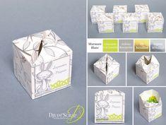 StampinUp! by DjudiScrap - Tutoriel Mini Boîte Cube Pâques Rosace Pliage « Set We Must Celebrate »
