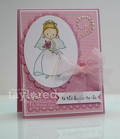 Moka Charlotte bride-to-be wedding card by Wanda Guess #Moka