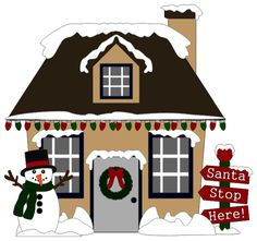 Christmas House by ScrappyDew.com. Paper piecing pattern files.