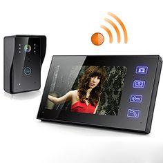 Trådløs 7 tommers lcd berøringsskjerm telefon intercom video dør doorbell hjem sikkerhet kamera skjerm 366587 2017 – kr.1.002