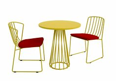 (L-R) Interlace side chair with flap, Interlace dining table, Interlace side chair    Design by: Vincenzo Vinci, Stephano Campioni & Chai Xiaodong