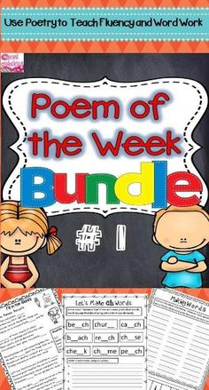 Use a poem of the week to teach word work and fluency. Great for use in Daily 5 or other literacy centers and stations. $ by irenepo