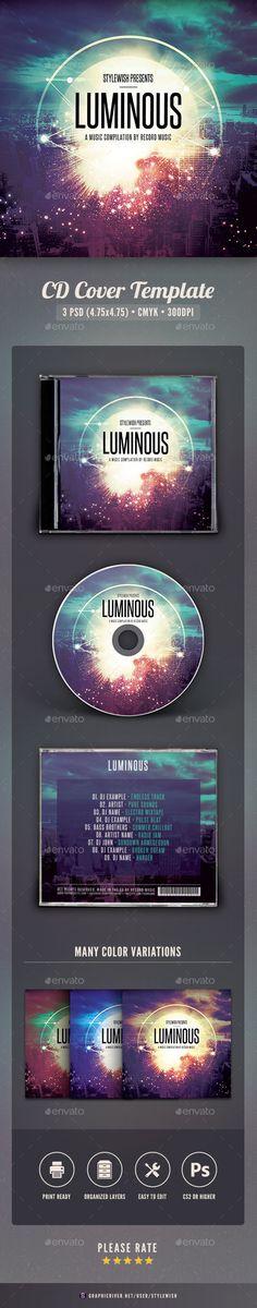 Luminous CD Cover Artwork Template PSD. Download here: http://graphicriver.net/item/luminous-cd-cover-artwork/15935392?ref=ksioks