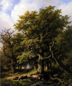 Things of beauty I like to see, Summer landscapes byBarend Cornelis Koekkoek....