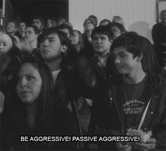 charlie: do you like football? patrick: love it! be aggressive! passive aggressive! the perks of being a wallflower
