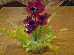 Best Out Of Waste Plastic bottles transformed to Lovely Poppy flowers Sh...