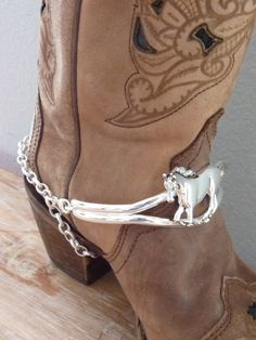 Cowgirl Boot Bling. Cowboy Boot Bling. Country Western. Horse Riding. Boot Bracelet. Ankle. Country Girl. Boot Jewelry. Barrel Racing
