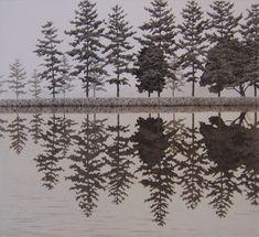 Reflection. Hyperrealistic etching by Japanese artist Tanaka Ryohei