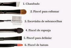 Pouco Estilo : #PINCÉIS PARA QUE SERVE CADA UM???#