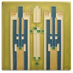 6x6 Avery Coonley Pendant, Lime  | Motawi Tileworks