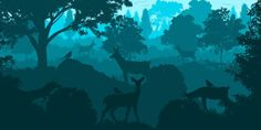 -- Forest landscape -- by 0l-Fox-l0