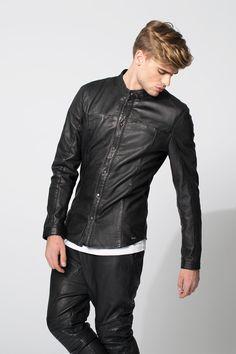 #Fashion #Menswear #Leather #Shirt