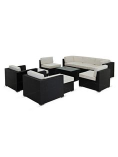 Avia Outdoor Seating Set (10 PC) by Pearl River Modern CA on Gilt Home