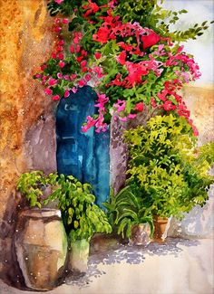 Crete ArtPrint of my original watercolor painting by Esperoart
