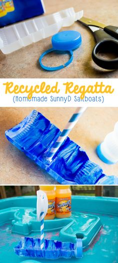 It's time to pull out the sails and have some summertime fun! If you're looking for a summer craft to add to your summer bucket list, or if you just need a boredom buster for your kids, they'll love these fun recycled DIY boats! #WhereFunBegins #ad